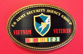 Vietnam Veteran Us Army Security Agency Group Epoxy Belt Buckle - New! - $16.78