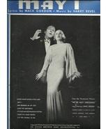 "1934 "" May I "" Bing Crosby Carole Lombard Piano Song Ukulele Antique she... - $9.95"
