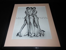Gigi Hadid Smalls L Aldridge NUDE Stuart Weitzman Framed ORIGINAL Advert... - $32.36