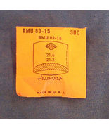 Vintage Illinois Plastic Crystal  Wristwatch Part RMU 89-15 CMT 282-22 - $10.99