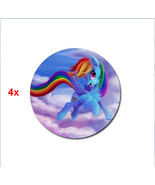 4x rubber drink Coasters little pony ponnies cute rainbow 4 x - $10.00