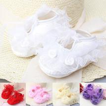 Prewalker Flower Princess Infant Baby Shoes Socks Girls Kids 3-12m Sole ... - $5.30