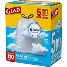Glad 13 Gallon Drawstring Trash Bags OdorShield Tall Kitchen Febreze Fre... - $28.17