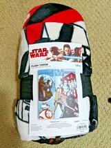 "Star Wars Last Jedi Collage Plush Fleece Throw Blanket BB8 Rey Kylo 50""x... - £15.34 GBP"