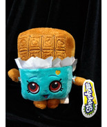 Shopkins Plush Lot of 3 New with tags. Ice Cream Bar, Cookie, Green Apple - $21.00