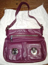 Marc Jacobs purple leather Sophia purse hobo - $148.00