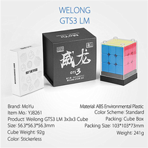 Moyu WeiLong GTS3LM 3x3 Magnetic Magic Cube Twisty Puzzle Funny Toys Black - $42.95
