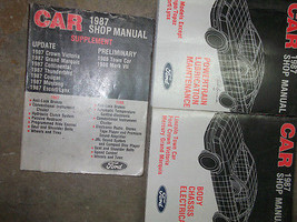 1987 Lincoln Town Car Service Shop Repair Manual Set Oem Factory Book 87 - $128.70