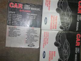 1987 Lincoln Town Car Service Shop Repair Manual SET OEM FACTORY BOOK 87 - $128.70
