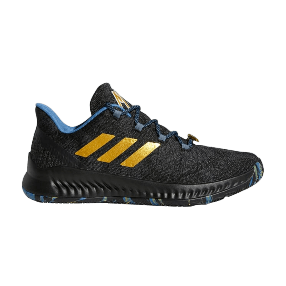 Adidas Harden B/E X MVP James Black Blue Gold Mens Basketball Shoes F36813
