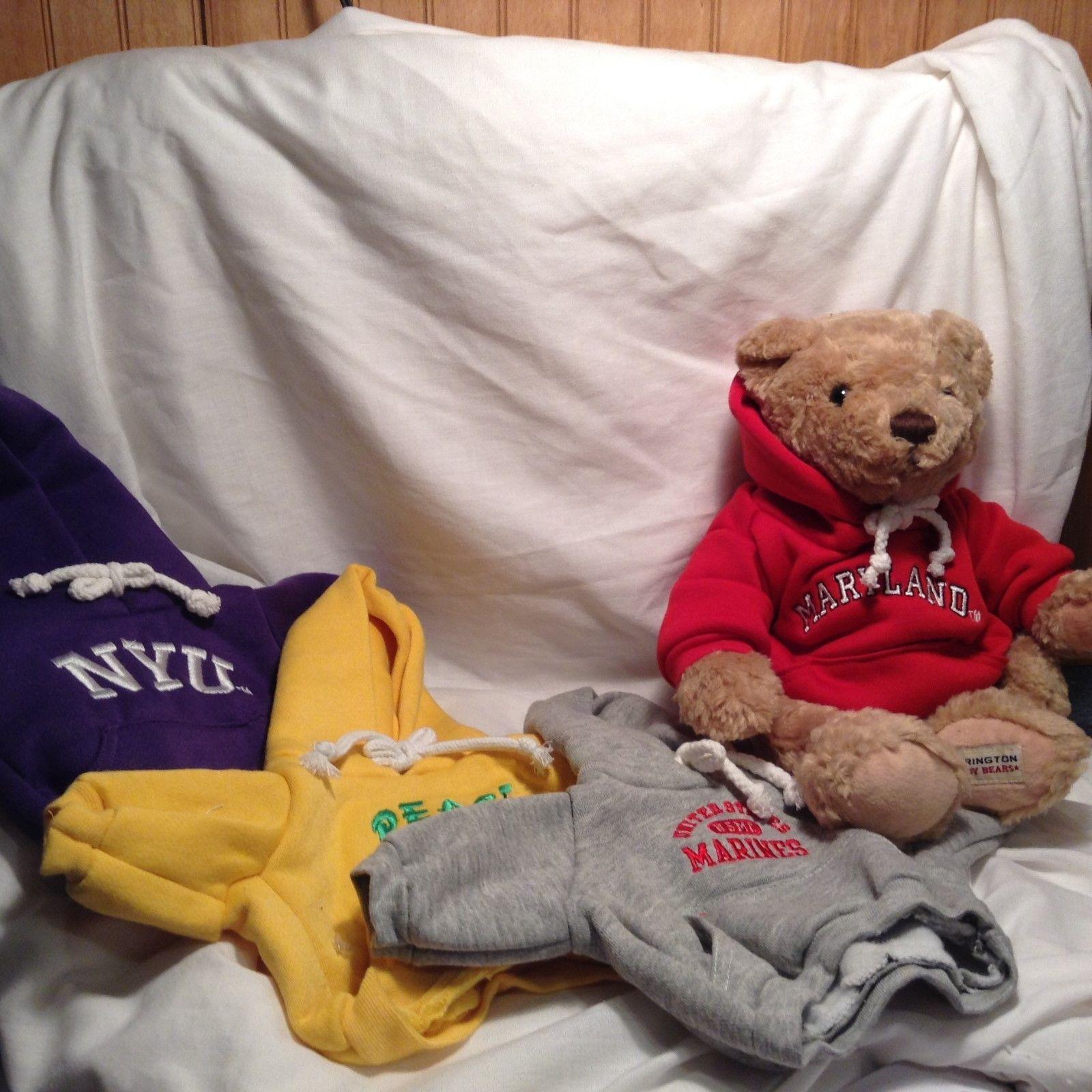 NEW Herrington Teddy Bear w 4 Hoodies