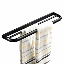 Leyden Oil Rubbed Bronze Double Towel Bars Wall Mounted Towel Rack - $28.26