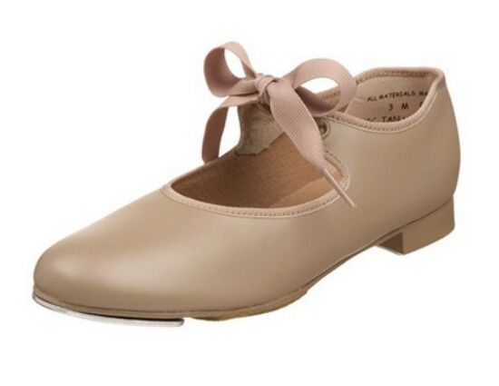 Capezio 625 Adult Size 4.5W (Fits Child Size 2) Tan Jr. Tyette Tap Shoe