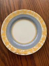 Decorative White Blue Porcelain Gold Plate Wedgwood Bone China 6' diameter - $24.74