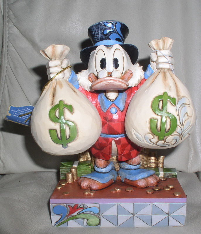 Primary image for Disney Uncle Scrooge with his money bags Figurine
