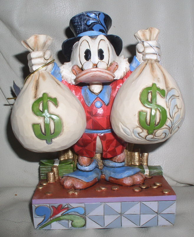 Disney Uncle Scrooge with his money bags Figurine