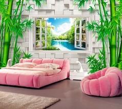 3D Der Bambus Die Fenster Fototapeten Wandbild Fototapete BildTapete Familie DE - $52.21+
