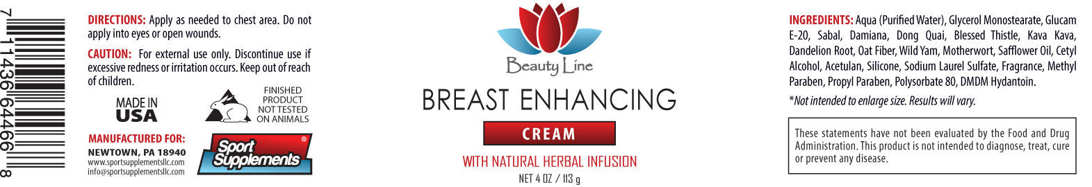 Bust Butt Enlargement Nature Breast Enhancement Cream OrganicInfusion 4oz