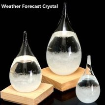 Tempo Drop Weather Storm Glass Forecast Perrocaliente Design New Home De... - $48.95