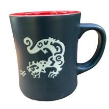 STARBUCKS 2011 Original KOMODO DRAGON Coffee Tea Cup Mug 16oz Matte Black - $48.50