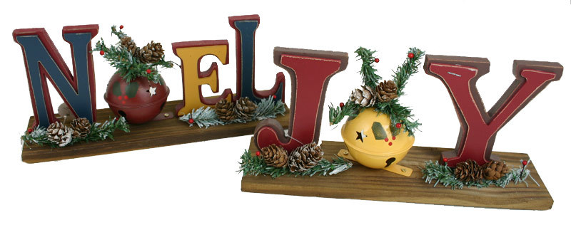 Large Noel / Joy Table Top Decor