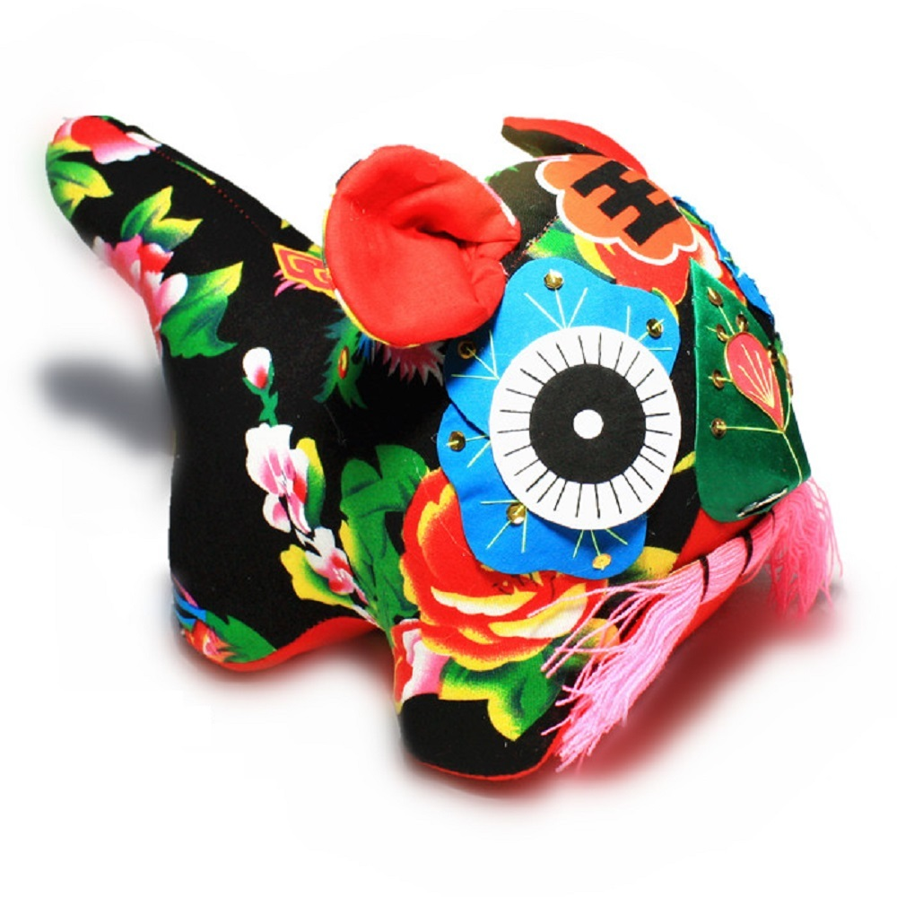 Yosinacos Handmade Big Cloth Tigers Kid Toys Gift Chinese Traditional Art Toys for sale  USA