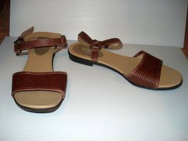 EASY SPIRIT KANANI, Brown Sandals, Ankle Strap, size 9.5 M - $10.00