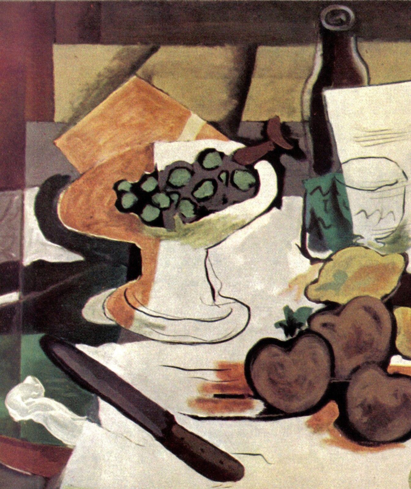 GEORGES BRAQUE 1935 LITHO PRINT w/COA invest in unique £ QUITE HISTORIC RARE ART