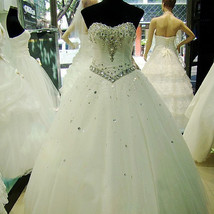 Crystal Wedding Dress At Bling Brides Bouquet - Online Bridal Shop - $399.99
