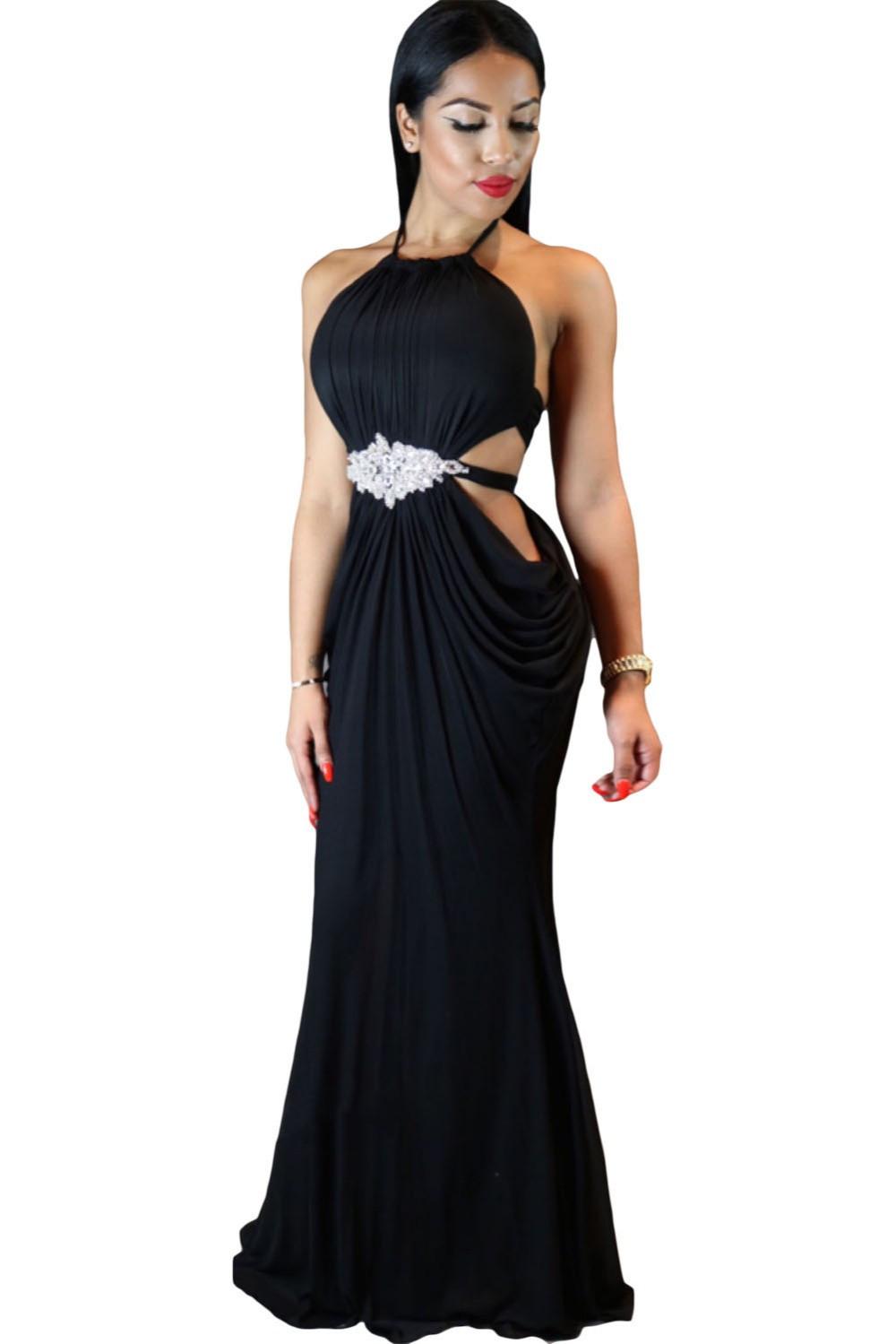 Draped Halter club dresses  at Bling Brides Bouquet - Online Bridal store