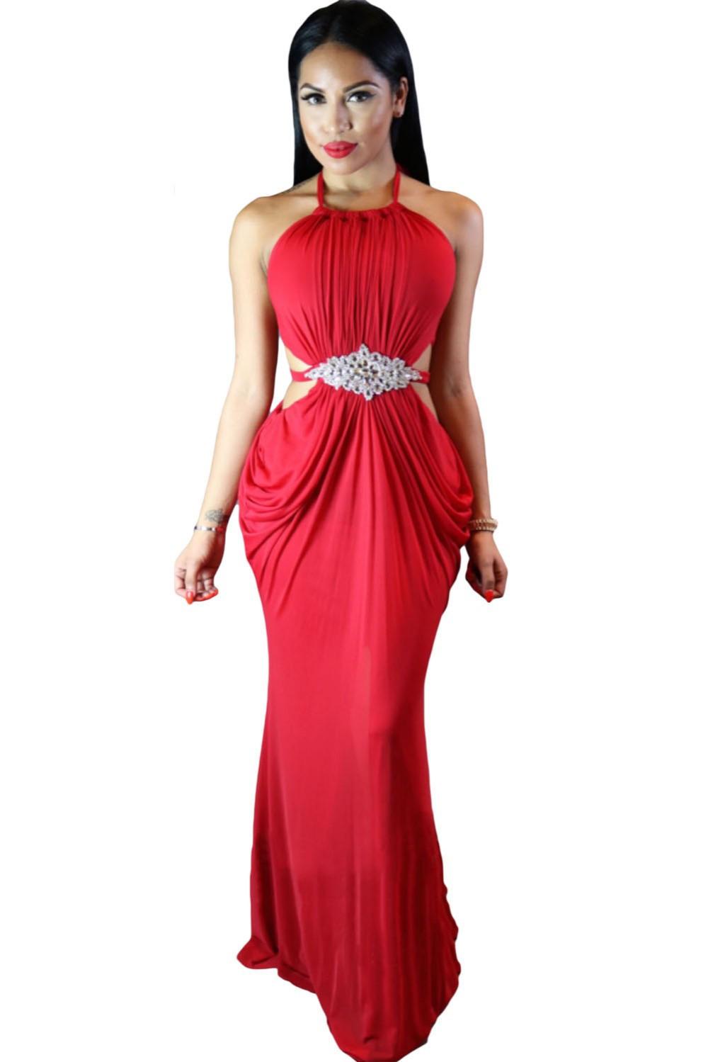 Draped Halter club dresses  at Bling Brides Bouquet - Online Bridal store image 3