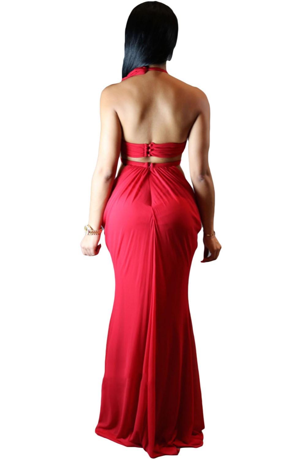 Draped Halter club dresses  at Bling Brides Bouquet - Online Bridal store image 4