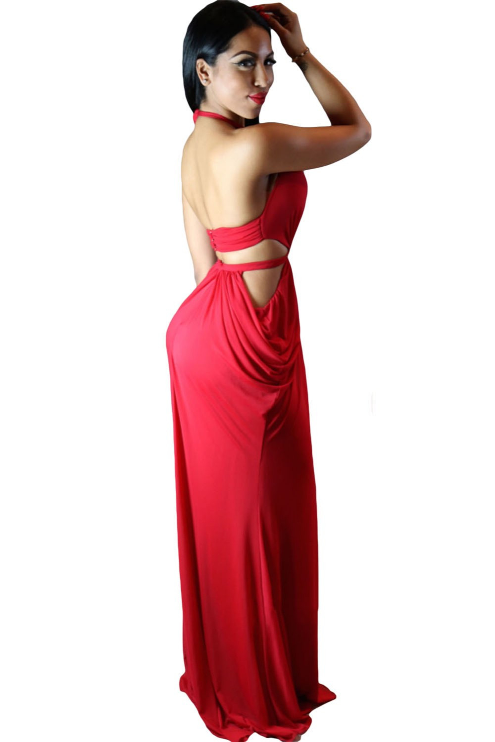 Draped Halter club dresses  at Bling Brides Bouquet - Online Bridal store image 5