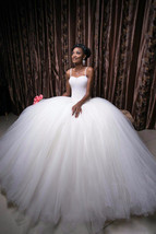 Luxury Pearls African Wedding Dresses Ball Gown at Bling Brides Bouquet ... - $449.99+