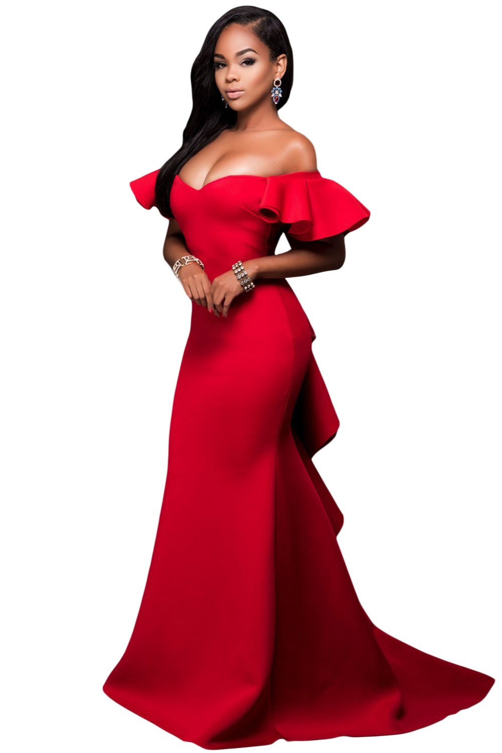 Sexy Off the Shoulder party Dresses At Bling Brides Bouquet-Online bridal store image 3