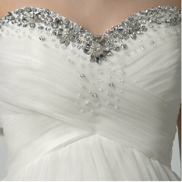 Flowered Maternity wedding dress at Bling Brides Bouquet - Online bridal store image 3