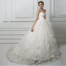 Flowered Maternity wedding dress at Bling Brides Bouquet - Online bridal store image 4
