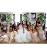 Golden lace up Bridesmaid/ Prom Dress at Bling Brides Bouquet online Bri... - $129.99