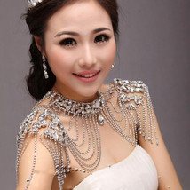 Shoulder chain with Crystals at Bling Brides Bouquet online Bridal Store - $89.99+