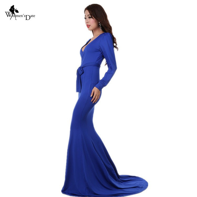 Bodycon long sleeved maxi dress at Bling Brides Bouquet - Online Bridal Store