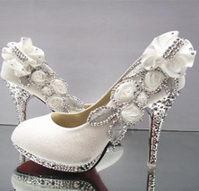Wedding Shoes Rhinestone Glitter Shoes at Bling Bries Bouquet - online bridal st - $69.99+