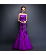 Sparkling sequined Lace up Bridesmaid Dresses at Bling Brides Bouquet  - $129.99