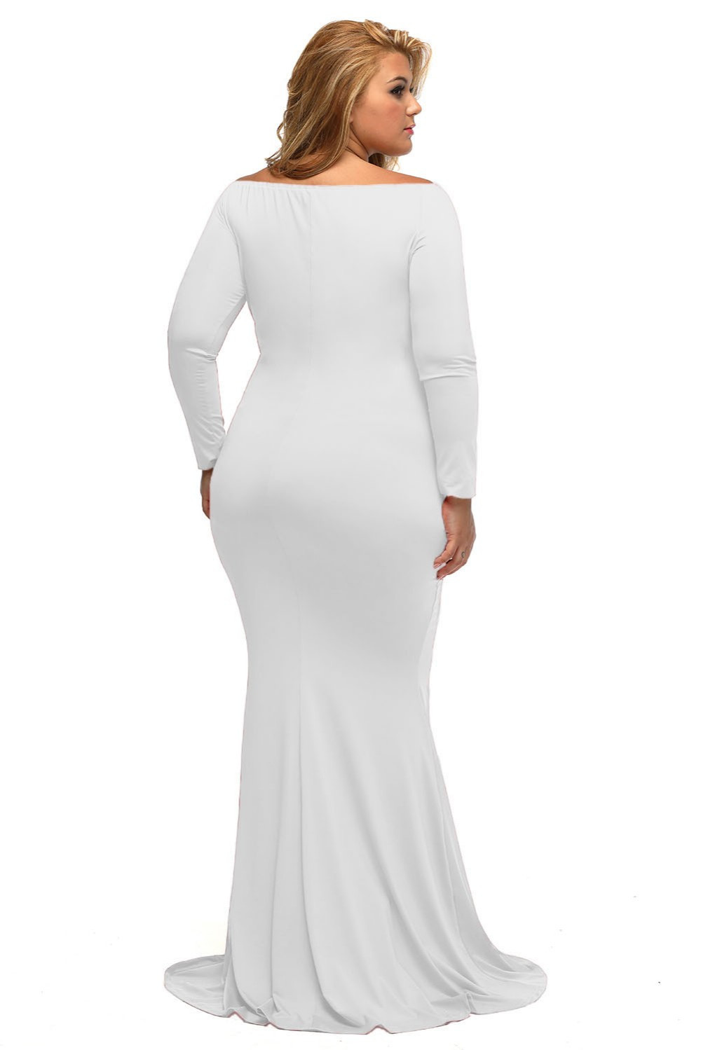 Plus Sized Maxi dresses with V neck at Bling Brides Bouquet - Online Bridal  image 2