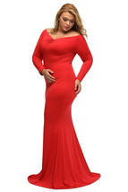 Plus Sized Maxi dresses with V neck at Bling Brides Bouquet - Online Bridal  image 4
