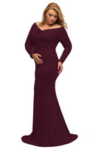 Plus Sized Maxi dresses with V neck at Bling Brides Bouquet - Online Bridal  image 6