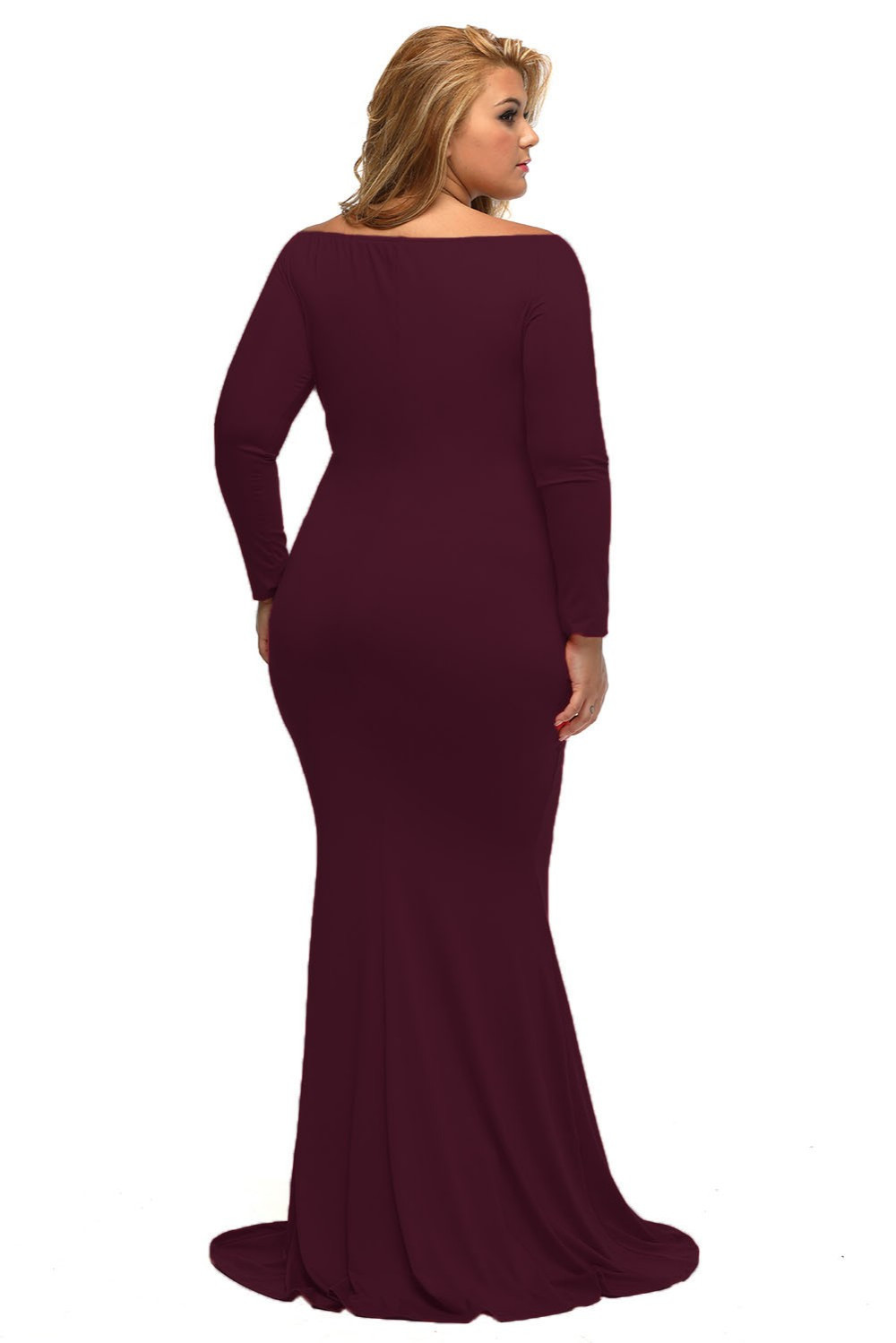 Plus Sized Maxi dresses with V neck at Bling Brides Bouquet - Online Bridal  image 7