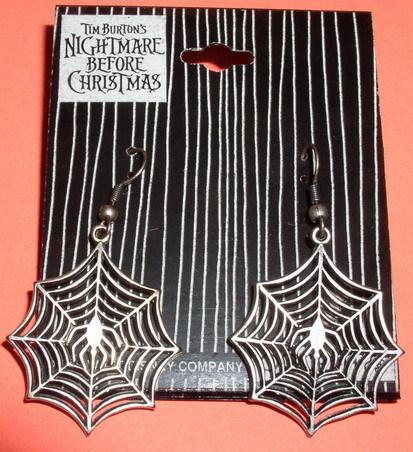 Nightmare Before Christmas Spider Web earrings