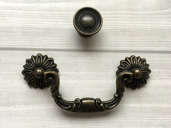 Dresser pull drawer pulls handles antique bronze cabinet pull drop bail 96 cabinet knobs - Drop pulls for cabinets ...