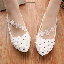 Women Lace Wedding Shoes/Extra Wider Wedding Shoes/Bridal Shoes US Size ... - $38.00