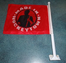 "RED 1997 Detroit Red Wings ""MADE IN HOCKEYTOWN"" NHL Car Flag - BRAND NEW... - $6.29"